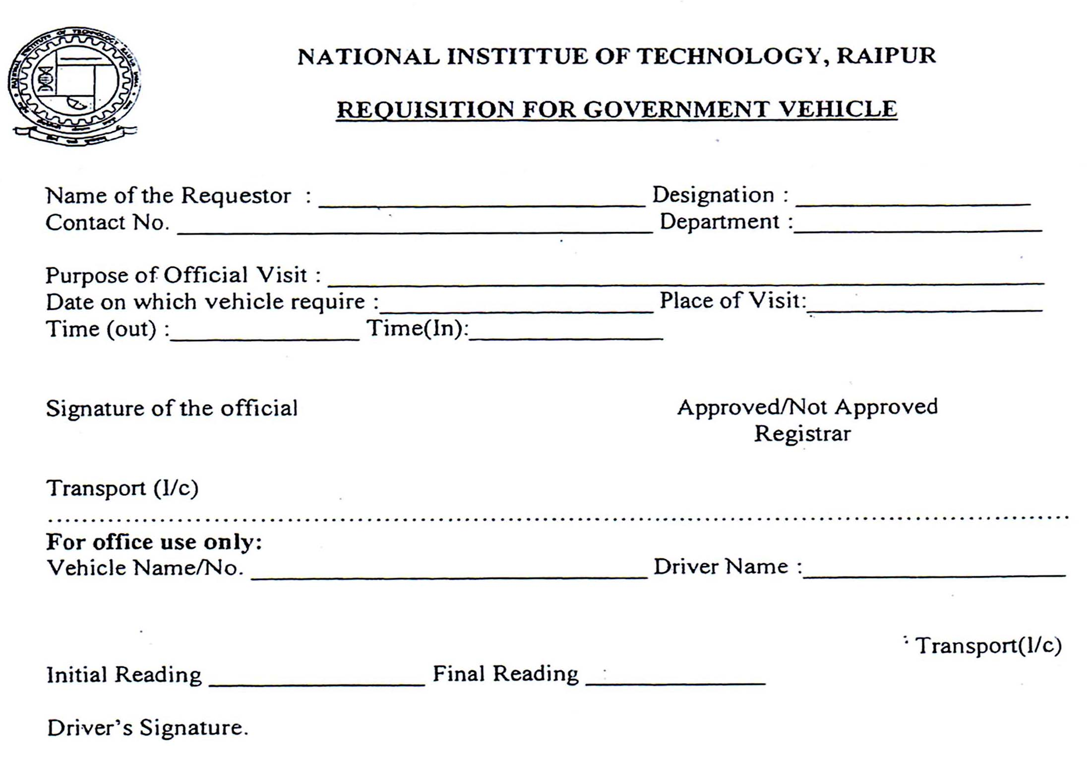 National Institute of Technology Raipur :::